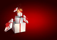 Present box inside present box. Zero percent. Stock Images