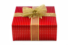 Present box isolated. Over white Stock Images