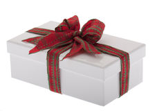 Present, box with jewelry ribbon Stock Photos