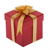 Present, box with jewelry ribbon Royalty Free Stock Photography