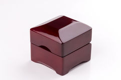 Present box for jewerly on white background Royalty Free Stock Image