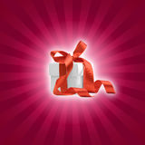 Present box with magenta background Stock Images
