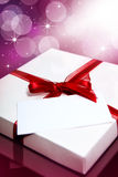 Present-box with note Stock Photography