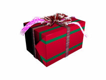 Present box over white. Stock Photos