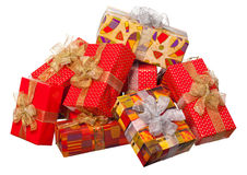 Present box with ribbon isolated Royalty Free Stock Photography