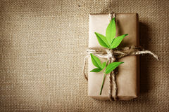 Present box rustic style Royalty Free Stock Photography