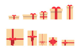 Present Box Set Different Size Collection Stock Photography