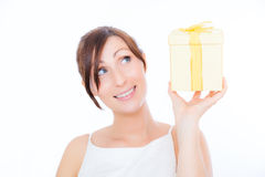 Present box surprise Royalty Free Stock Image
