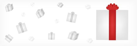 Present box vector / banner Stock Photography