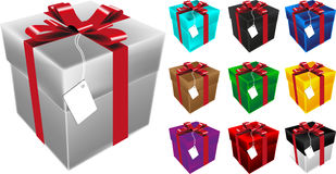 Present box vector. Illustration of present box vector Royalty Free Stock Photos