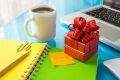 Free Present Box With Christmas Message: Ho Ho Ho! For Holiday Season Royalty Free Stock Image - 45943936