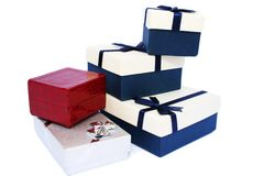 Present boxes Royalty Free Stock Photos