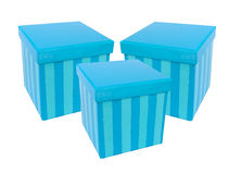 Present boxes. Blue present boxes royalty free stock photography