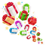 Present Boxes Background for Cards. Vector Stock Image