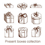 Present boxes collection. Stock Image
