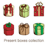 Present boxes collection. Stock Photography