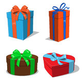Present boxes collection Royalty Free Stock Image