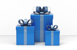 Present boxes. 3d modelled and rendered present boxes Royalty Free Stock Photo
