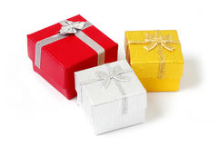 Present boxes isolated Stock Photo