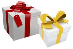 Present boxes Stock Image