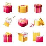 Present boxes royalty free illustration