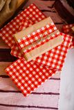 Present boxes under fir-tree Stock Image