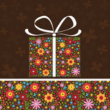 Present on a brown background Royalty Free Stock Image