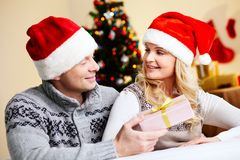 Present for Christmas Royalty Free Stock Image