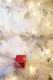 Present  on Christmas Tree Stock Image