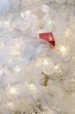Present on Christmas Tree. A small red present is in the Christmas Tree Royalty Free Stock Photos