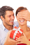 Present couple royalty free stock image
