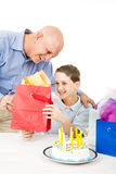 Present from Dad Royalty Free Stock Images