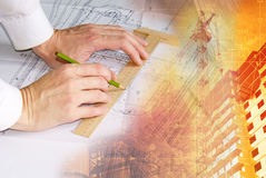 Present-day architectural business Royalty Free Stock Photography
