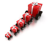 Present delivery Royalty Free Stock Image
