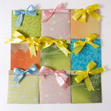 Present envelopes for party Royalty Free Stock Images