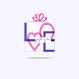 Present för förälskelse Arkivbild