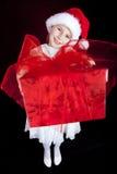 present för julflickaholding royaltyfria bilder