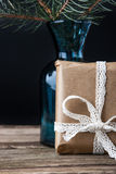 Present  fir tree  brunch in the vase Stock Photography