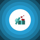 Present Flat Icon. Gift Vector Element Can Be Used For Heart, Gift, Ribbon Design Concept. Stock Photos