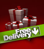 Present, free delivery Royalty Free Stock Image