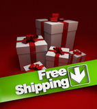 Present, free shipping Royalty Free Stock Image