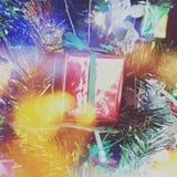Present gift box x' mas. Present tree box Stock Photography