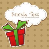 Present gift box with ribbon Royalty Free Stock Images
