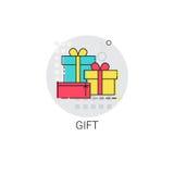 Present Gift Box Sale Icon Stock Photography
