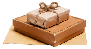 Present Gift From Grunge Paper Royalty Free Stock Photos