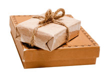 Present Gift From Grunge Paper Royalty Free Stock Images
