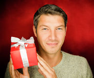 Present gift man Royalty Free Stock Photo