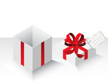 Present gift with red bow Royalty Free Stock Photo