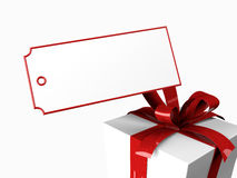 Present with gift tag vector illustration