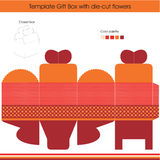 Present gift template. Gift box template with dots design Royalty Free Illustration